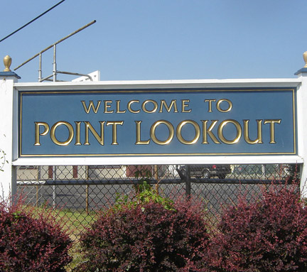 sign: Welcome to Point Lookout