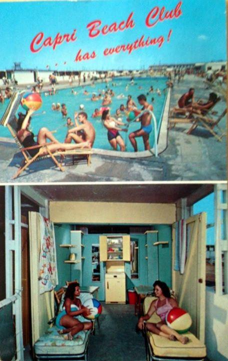 postcard: Capri Beach Club