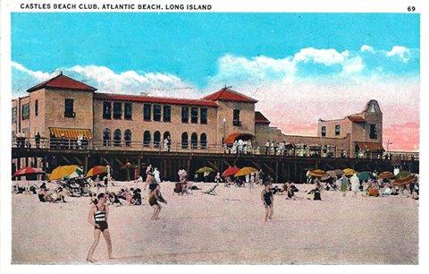 postcard: Castle's Beach Club, Atlantic Beach