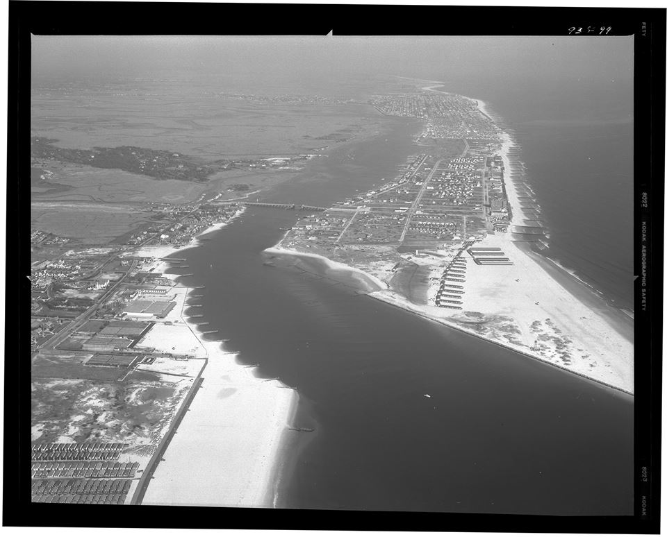 aerial view: East Rockaway Inlet 1946