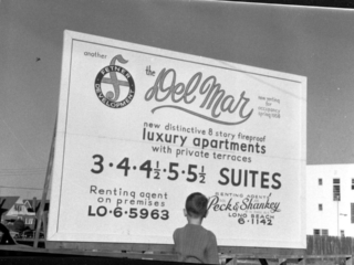billboard: Del Mar luxury apartments