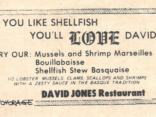 ad: David Jones Restaurant, Island Park