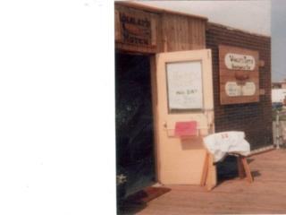 open door of Dirty Dick's, on the boardwalk