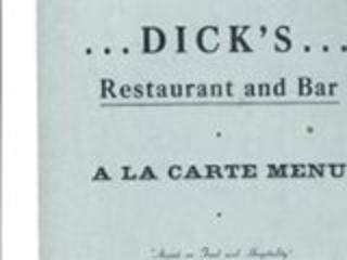 menu: Dick's Restaurant and Bar