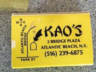 matchbook cover: Kao's restaurant, Atlantic Beach