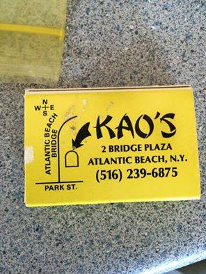 matchbook cover: Kao's restaurant, Atlantic Beach