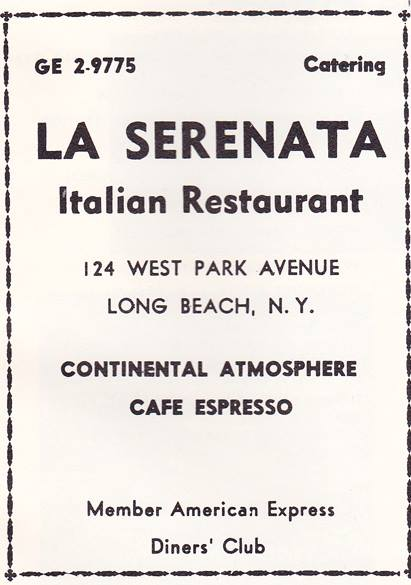 ad: La Serenata Italian restaurant
