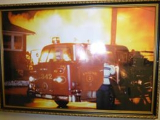 Aldo's Bar and Restaurant on fire