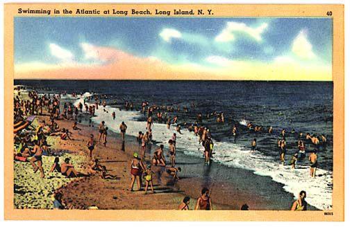postcard: beach swimming