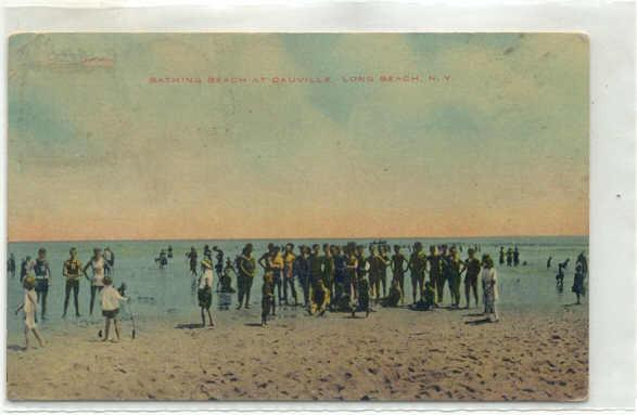 postcard: Bathing Beach at Dauville