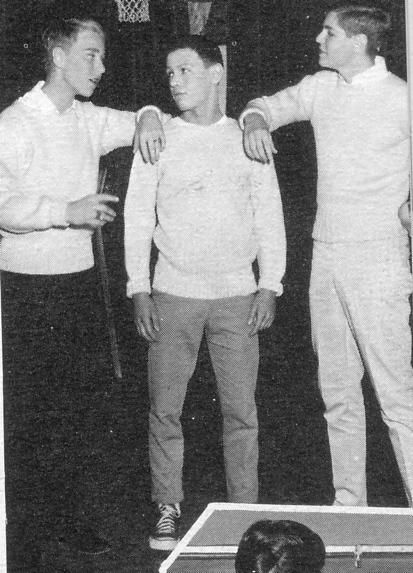 yearbook photo: 3 boys including Billy Crystal
