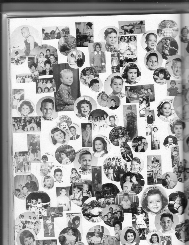 yearbook page: baby pictures