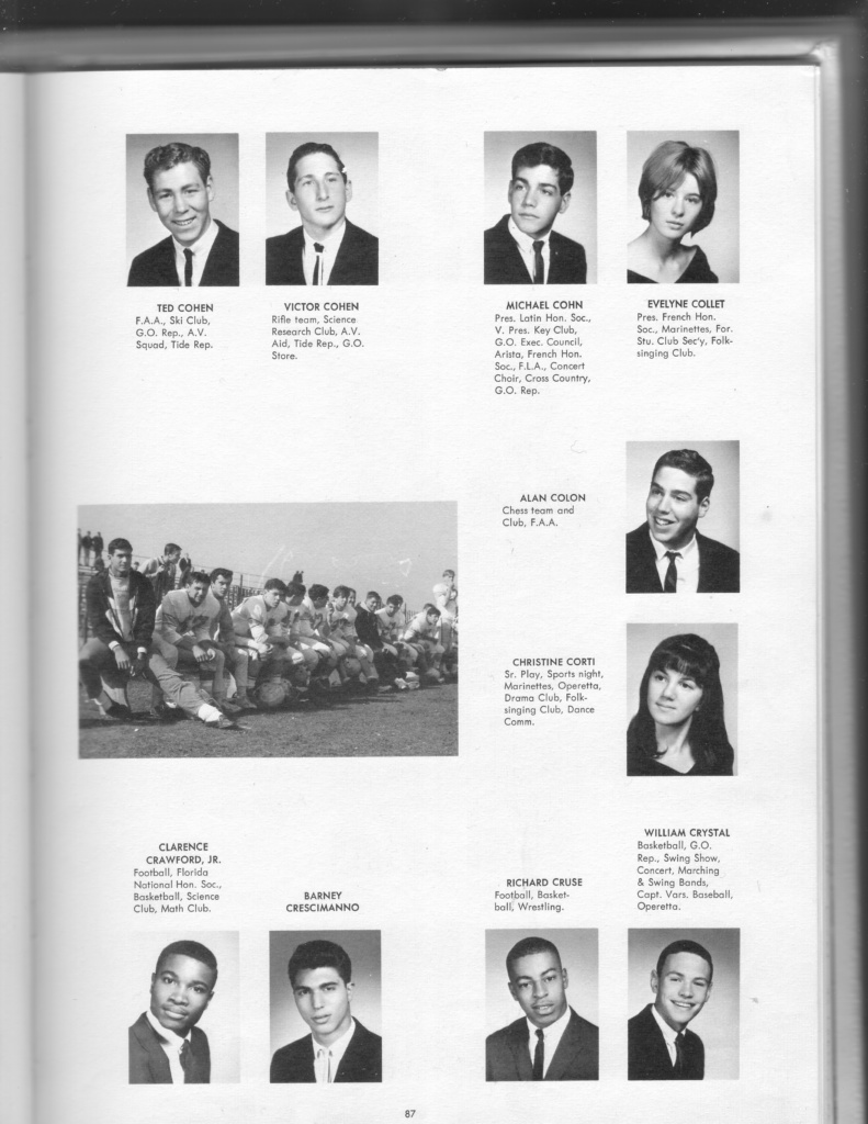 yearbook page: Ted Cohen through Billy Crystal