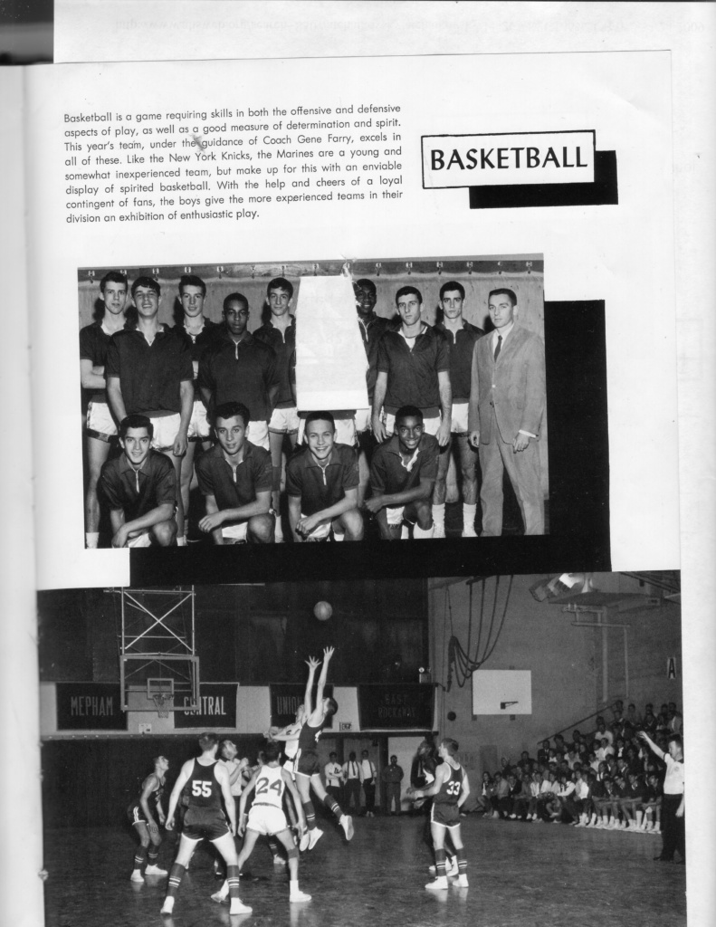 yearbook page: basketball team