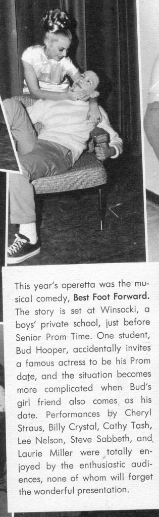 clipping: Billy Crystal in school performance of Best Foot Forward