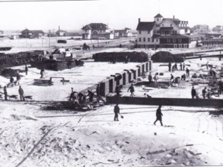 boardwalk under construction near National Blvd, 1914