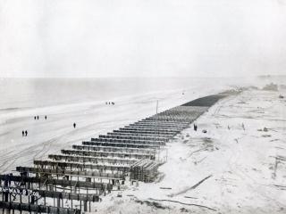 footings for boardwalk, 1908