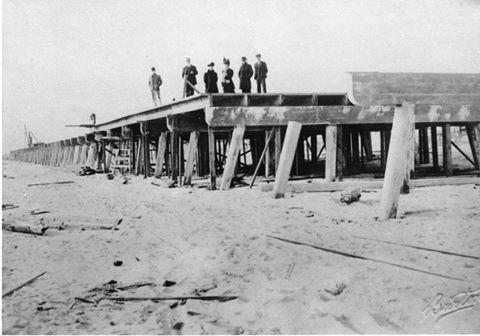 boardwalk under construction 1908