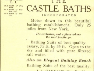 clipping: ad for the Castle Baths