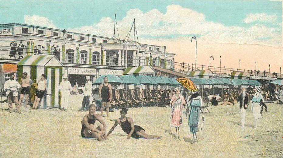 Castles Theatre, 1930s (colorized)