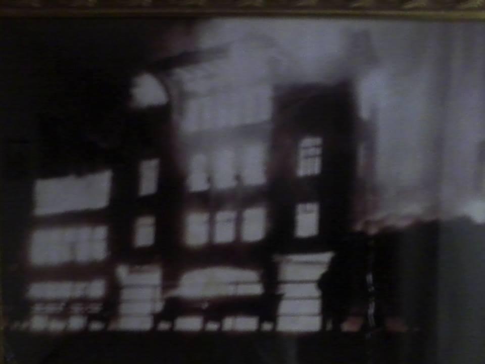 Deauvil Baths on fire, December 1957