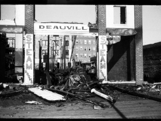 burned-out Deauvill Baths, 1957