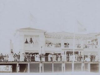 National Pavillion, seen from beach