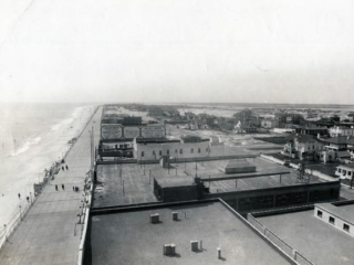aerial view of boardwalk and Palace Baths