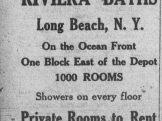 clipping advertising Riviera Baths hotel