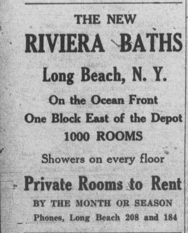 clipping advertising Riviera Baths hotel