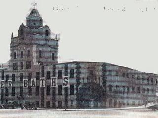 tower baths building by boardwalk