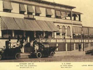 postcard: boardwalk casino 1908
