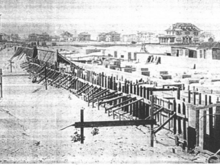 boardwalk foundation, under construction
