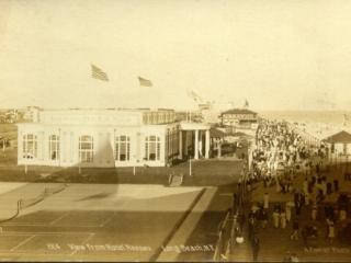 aerial view, Nassau Hotel on boardwalk 1914