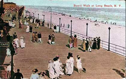 postcard: boardwalk colorized