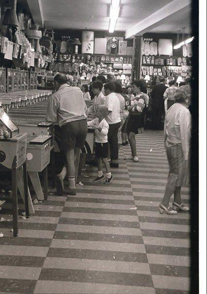 crowds playing arcade games