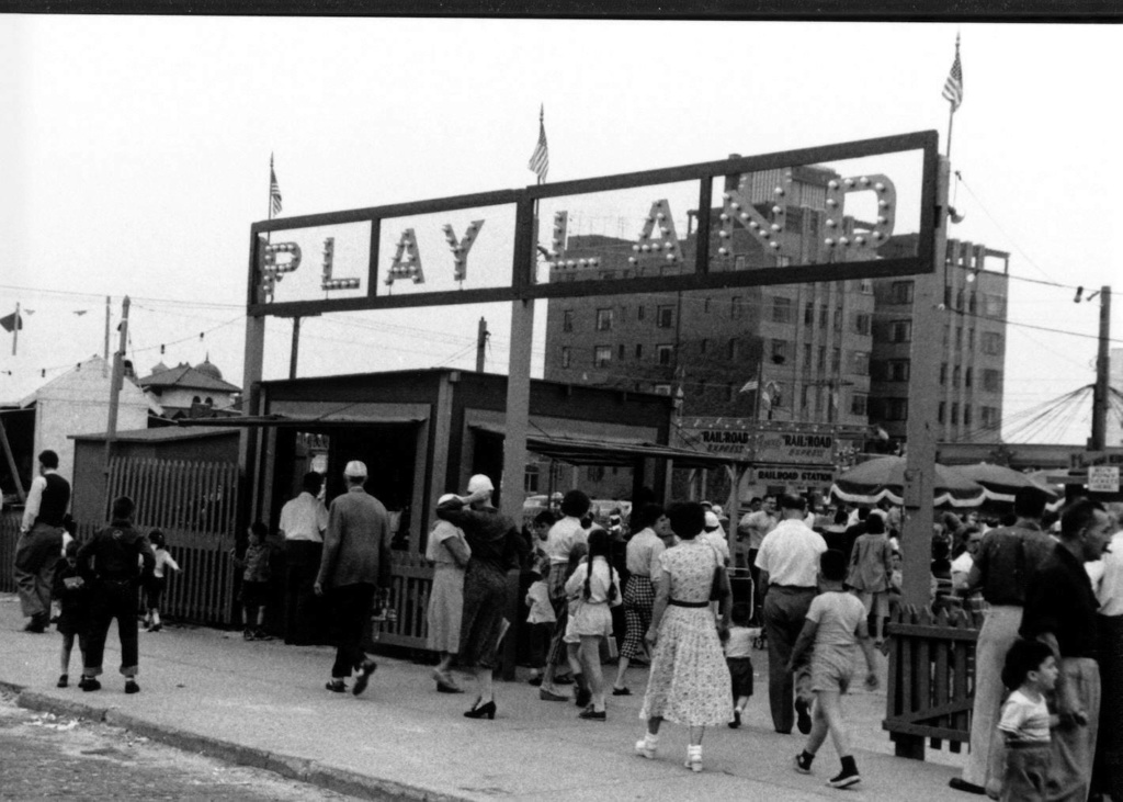 Playland crowds near boardwalk