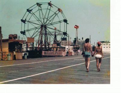 Ferris Wheel above boardwalk