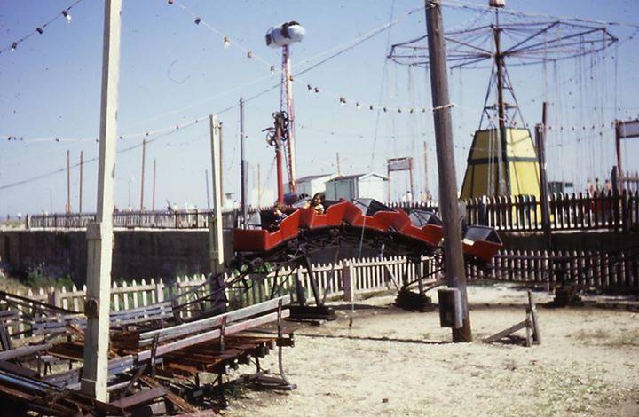 amusement park by boardwalk