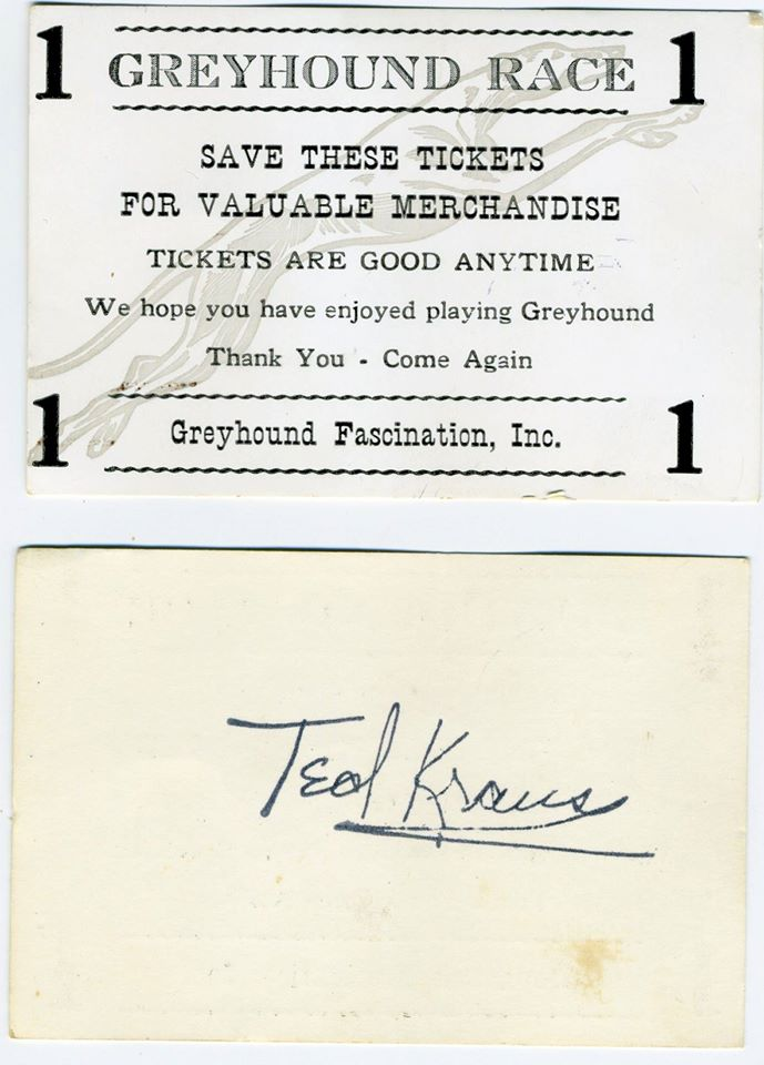 ticket for Greyhound Race game